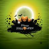 Ejemplo del vector en un tema de Halloween Imagenes de archivo