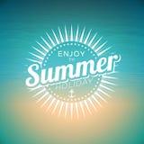 Ejemplo del vector en un tema de las vacaciones de verano Fotografía de archivo libre de regalías