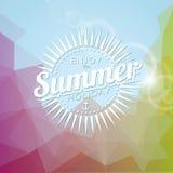 Ejemplo del vector en un tema de las vacaciones de verano Fotos de archivo libres de regalías