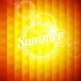 Ejemplo del vector en un tema de las vacaciones de verano Imagen de archivo libre de regalías