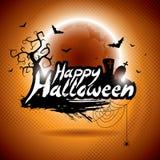Ejemplo del vector en un tema del feliz Halloween Foto de archivo