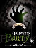 Ejemplo del vector en un tema del partido de Halloween Fotografía de archivo