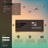 Ejemplo del vector (EPS 10) de la plantilla del diseño web Blurred Imagen de archivo