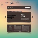 Ejemplo del vector (EPS 10) de la plantilla del diseño web Blurred Foto de archivo