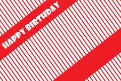 Ejemplo del vector EPS 10 de la tarjeta de felicitación del feliz cumpleaños Imagenes de archivo