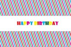 Ejemplo del vector EPS 10 de la tarjeta de felicitación del feliz cumpleaños Fotografía de archivo