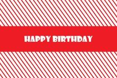 Ejemplo del vector EPS 10 de la tarjeta de felicitación del feliz cumpleaños Imagen de archivo libre de regalías