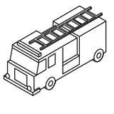 Ejemplo del vector EPS del Firetruck por los crafteroks stock de ilustración