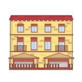 Ejemplo del vector del esquema de la arquitectura de la casa línea concepto de la arquitectura del arte Fotografía de archivo