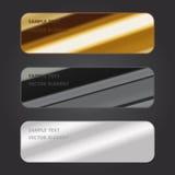 Ejemplo del vector, etiqueta metálica para el diseño y trabajo creativo Foto de archivo libre de regalías
