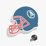 Ejemplo del vector del fútbol americano del casco Fotos de archivo