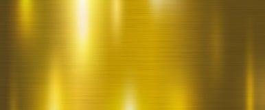 Ejemplo del vector del fondo de la textura del metal del oro Fotografía de archivo libre de regalías