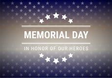 Ejemplo del vector del fondo de Memorial Day stock de ilustración