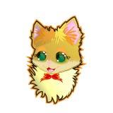Ejemplo del vector - gatito lindo, etiqueta engomada, cartel, tarjeta Imagen de archivo libre de regalías