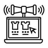 Ejemplo del vector del icono del m?rketing de Digitaces ilustración del vector