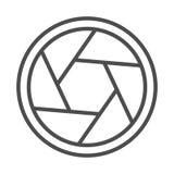 Ejemplo del vector del icono del obturador de cámara ilustración del vector