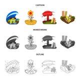 Ejemplo del vector del icono del tiempo y de la desolaci?n Colecci?n de s?mbolo com?n del tiempo y del desplome para la web libre illustration