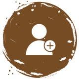Ejemplo del vector del icono del usuario Fotos de archivo libres de regalías