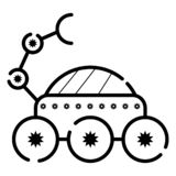 Ejemplo del vector del icono del vagabundo de la luna ilustración del vector