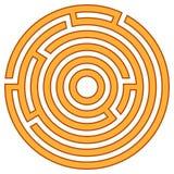 Ejemplo del vector del laberinto Foto de archivo libre de regalías