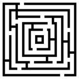 Ejemplo del vector del laberinto del laberinto ilustración del vector