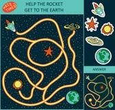 Ejemplo del vector del laberinto para los niños ilustración del vector