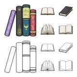 Ejemplo del vector del logotipo de la biblioteca y del libro de texto Fije del icono del vector de la biblioteca y de la escuela  libre illustration