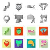 Ejemplo del vector del logotipo de la bufanda y del mantón Colección de ejemplo común del vector de la bufanda y del accesorio ilustración del vector