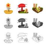 Ejemplo del vector del logotipo del tiempo y de la desolación Colección de símbolo común del tiempo y del desplome para la web libre illustration