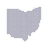 Ejemplo del vector del mapa de los puntos de Ohio libre illustration