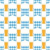 Ejemplo del vector del modelo del festival de la cerveza de Munich, azul en blanco stock de ilustración