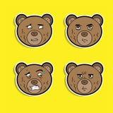 Ejemplo del vector del oso de la historieta ilustración del vector