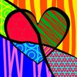Ejemplo del vector para el día de tarjeta del día de San Valentín Estallido-arte ilustración del vector