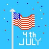 Ejemplo del vector para el 4 de julio Imágenes de archivo libres de regalías