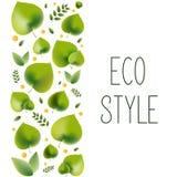 Ejemplo del vector para el tema ambiental - estilo del eco stock de ilustración