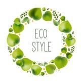 Ejemplo del vector para el tema ambiental - estilo del eco libre illustration
