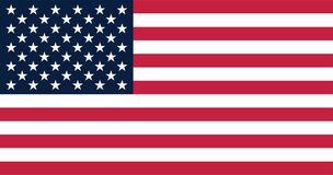 Ejemplo del vector para la bandera de Estados Unidos ilustración del vector