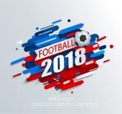 Ejemplo del vector para una taza 2018 del fútbol Imagen de archivo