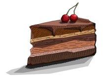 Ejemplo del vector del pedazo de dibujo de torta Imágenes de archivo libres de regalías
