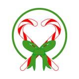 Ejemplo del vector del regalo del amor del caramelo de la Navidad Fotografía de archivo