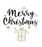 Ejemplo del vector del regalo de la Navidad Fotos de archivo