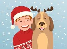 Ejemplo del vector del retrato de la Navidad Imágenes de archivo libres de regalías