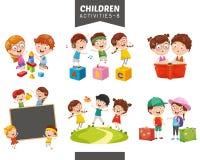 Ejemplo del vector del sistema de las actividades de los niños ilustración del vector
