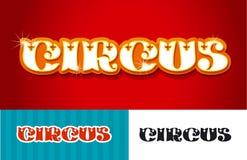 Ejemplo del vector del título de la palabra del circo en estilo retro del vintage Imagenes de archivo
