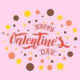 Ejemplo del vector del texto feliz de día de San Valentín stock de ilustración