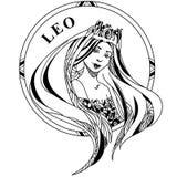Ejemplo del vector del zodiaco Leo de la muestra libre illustration