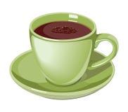 Ejemplo del verde lima de la taza de café Imagen de archivo libre de regalías