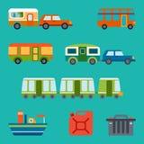 Ejemplo del viaje con diversos tipos de transporte Fotografía de archivo libre de regalías