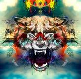 Ejemplo del wol enojado Foto de archivo libre de regalías
