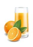 Ejemplo del zumo de naranja Foto de archivo libre de regalías